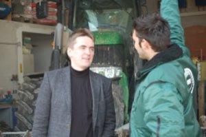 Dirk Horstmann bei der Begehung der Biogasanlage Dölle